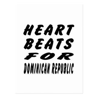 Heart Beats For Dominican Republic Postcard