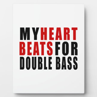 HEART BEATS FOR DOUBLE BASS DISPLAY PLAQUE
