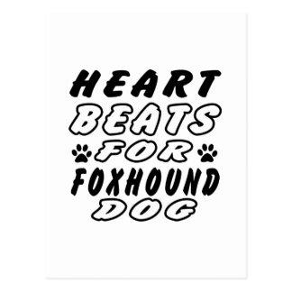 Heart Beats For Foxhound. Postcard