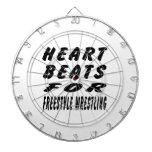Heart Beats For Freestyle Wrestling Dart Board