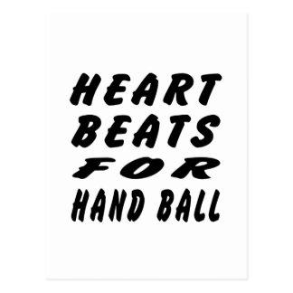 Heart Beats For Hand Ball Postcard