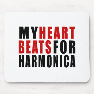 HEART BEATS FOR HARMONICA MOUSE PAD