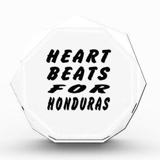 Heart Beats For Honduras Acrylic Award