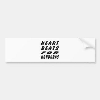 Heart Beats For Honduras Car Bumper Sticker