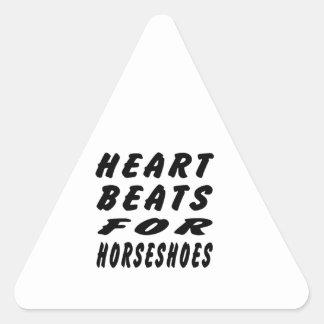 Heart Beats For Horseshoes Triangle Sticker