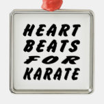 Heart Beats For Karate Martial Arts Ornaments