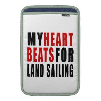 HEART BEATS FOR LAND SAILING MacBook SLEEVES