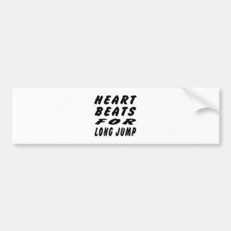 Heart Beats For Long Jump Car Bumper Sticker