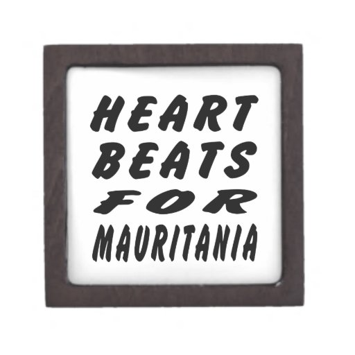 Heart Beats For Mauritania Premium Jewelry Box