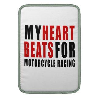 HEART BEATS FOR MOTORCYCLE RACING MacBook AIR SLEEVES