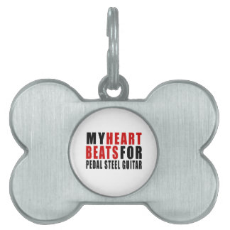HEART BEATS FOR PEDAL STEEL GUITAR PET ID TAGS