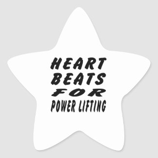 Heart Beats For Power Lifting Star Stickers