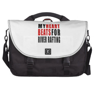 HEART BEATS FOR RIVER RAFTING LAPTOP BAGS