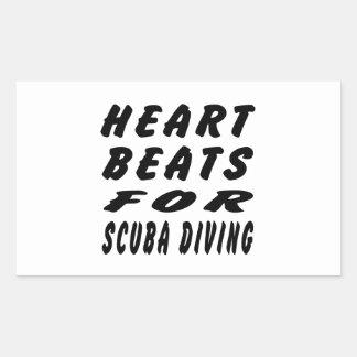 Heart Beats For Scuba Diving Rectangular Stickers
