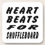 Heart Beats For Shuffleboard Coasters