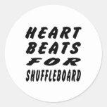 Heart Beats For Shuffleboard Sticker