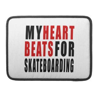 HEART BEATS FOR SKATEBOARDING SLEEVES FOR MacBooks