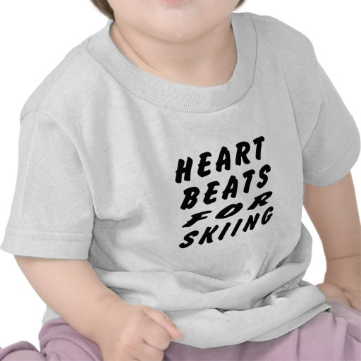 Heart Beats For Skiing T-shirt