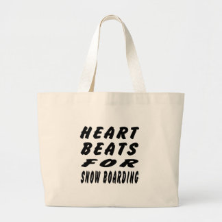 Heart Beats For Snow Boarding Canvas Bags