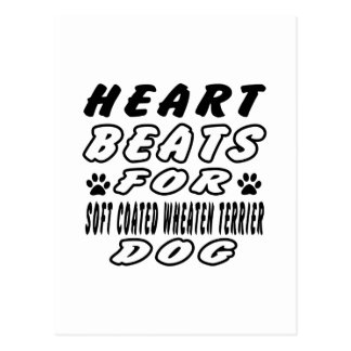 Heart Beats For Soft Coated Wheaten Terrier Postcard
