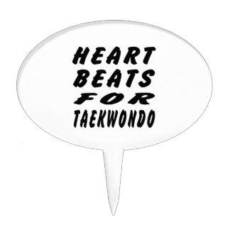 Heart Beats For Taekwondo Martial Arts Cake Picks