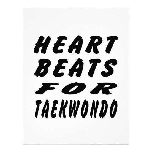 Heart Beats For Taekwondo Martial Arts Custom Letterhead