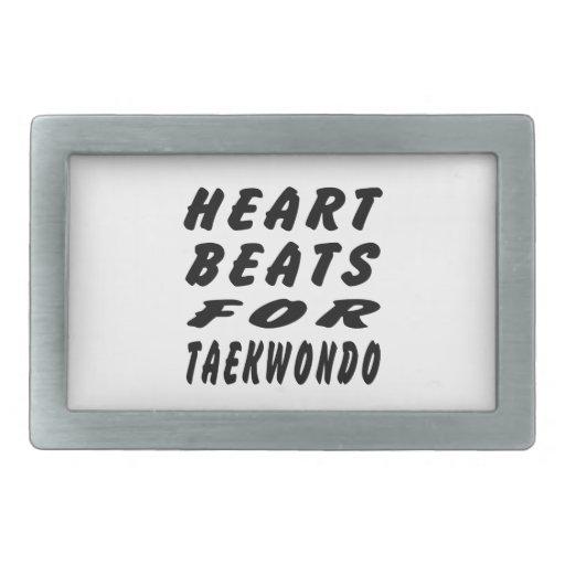 Heart Beats For Taekwondo Martial Arts Rectangular Belt Buckles