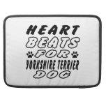 Heart Beats For Yorkshire Terrier MacBook Pro Sleeve