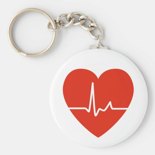 Heart Beats Key Chain