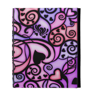 Heart Beats Singing, Stained Glass style iPad Folio Cover