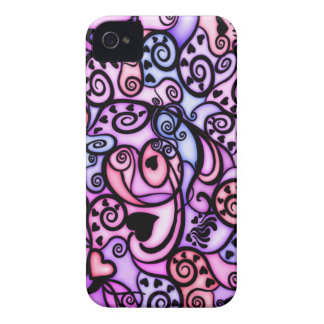 Heart Beats Singing, Stained Glass style Case-Mate iPhone 4 Case