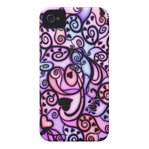 Heart Beats Singing, Stained Glass style iPhone 4 Cover