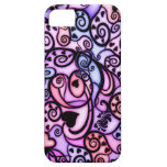 Heart Beats Singing, Stained Glass style iPhone 5 Case