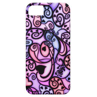 Heart Beats Singing, Stained Glass style iPhone SE/5/5s Case