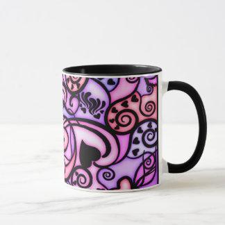 Heart Beats Singing, Stained Glass style Mug