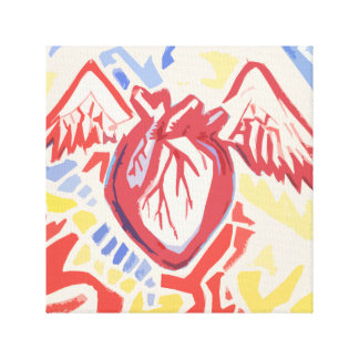 Heart Beats Tricolor Canvas Print