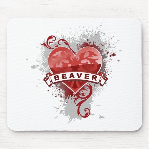 Heart Beaver Mousepads