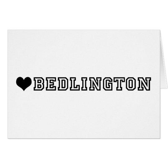 (heart) BEDLINGTON Card