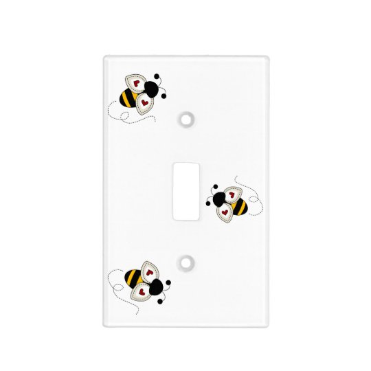 Heart Bees Light Switch Cover