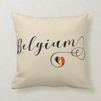 Heart Belgium Pillow, Belgian Flag Throw Pillow