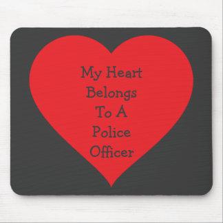 Heart Belongs 2 Cop (customizable) Mouse Pad