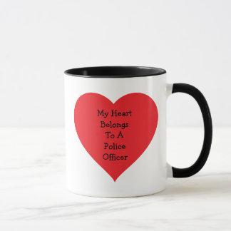 Heart Belongs 2 Cop (customizable) Mug
