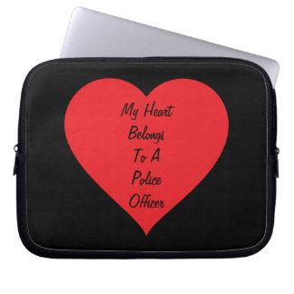 Heart Belongs 2 Police (customizable) Laptop Sleeve
