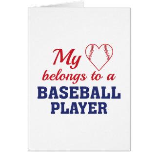 Heart Belongs Baseball Card