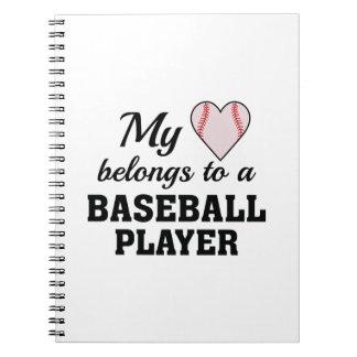 Heart Belongs Baseball Notebook