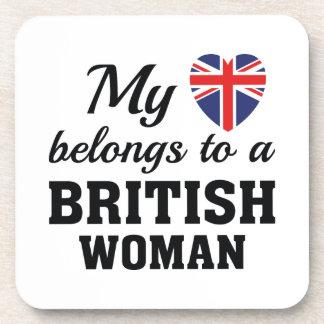 Heart Belongs British Drink Coaster