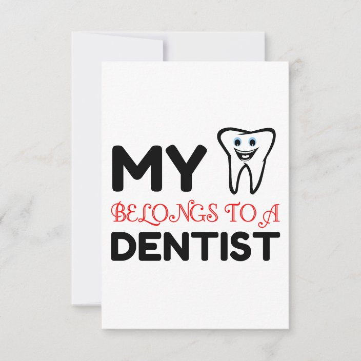 heart belongs dentist thank you card  zazzle