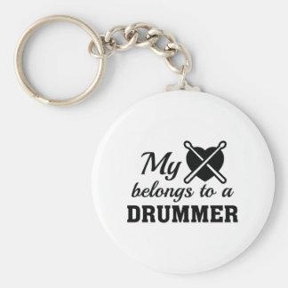 Heart Belongs Drummer Keychain