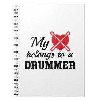 Heart Belongs Drummer Notebook