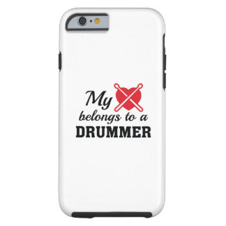 Heart Belongs Drummer Tough iPhone 6 Case